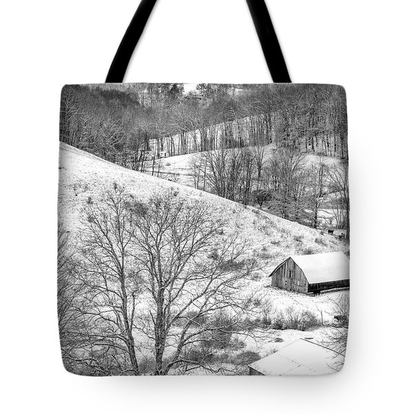 Black And White In Winter Tote Bag