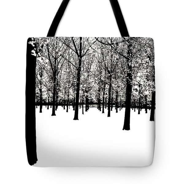 Tote Bag featuring the photograph Black And White by Jim Dollar