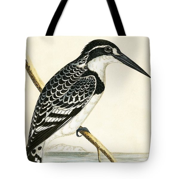 Black And White Kingfisher Tote Bag