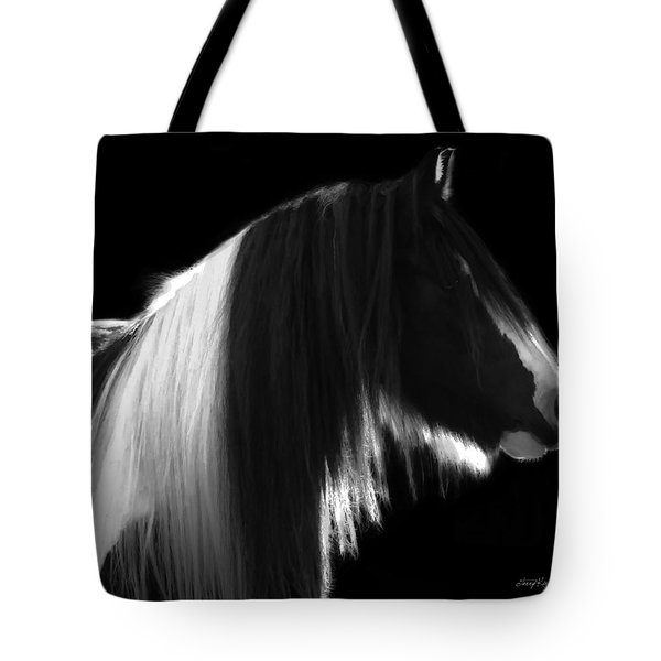 Black And White Mare Tote Bag