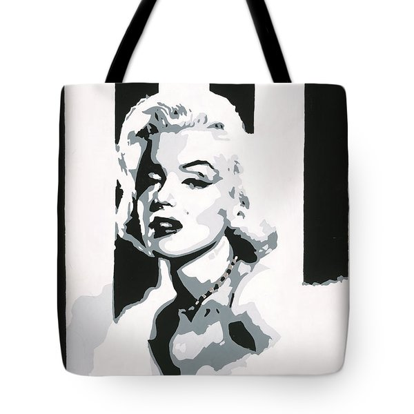 Black And White Marilyn Tote Bag