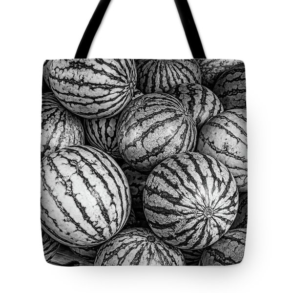 Black And White Mellons Tote Bag