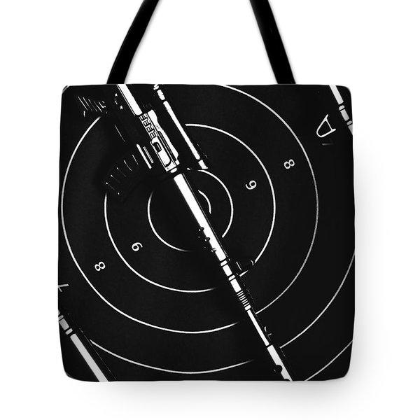 Black And White Military Marksman  Tote Bag