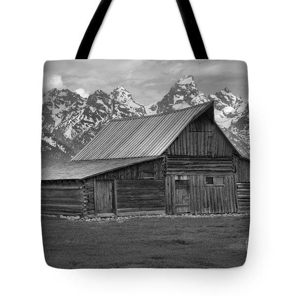 Black And White Mormon Row Barn Tote Bag by Adam Jewell