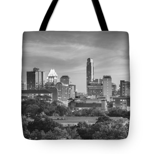 Black And White Of The Austin, Texas Skyline 1 Tote Bag