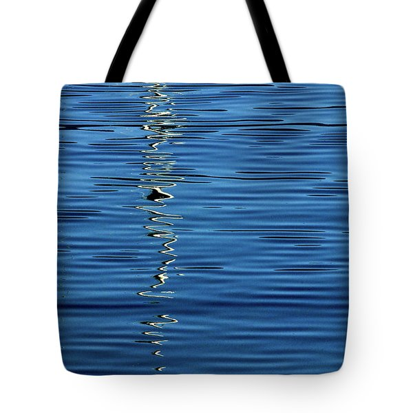 Black And White On Blue Tote Bag
