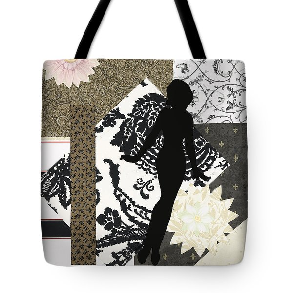 Black And White Paper Doll Tote Bag