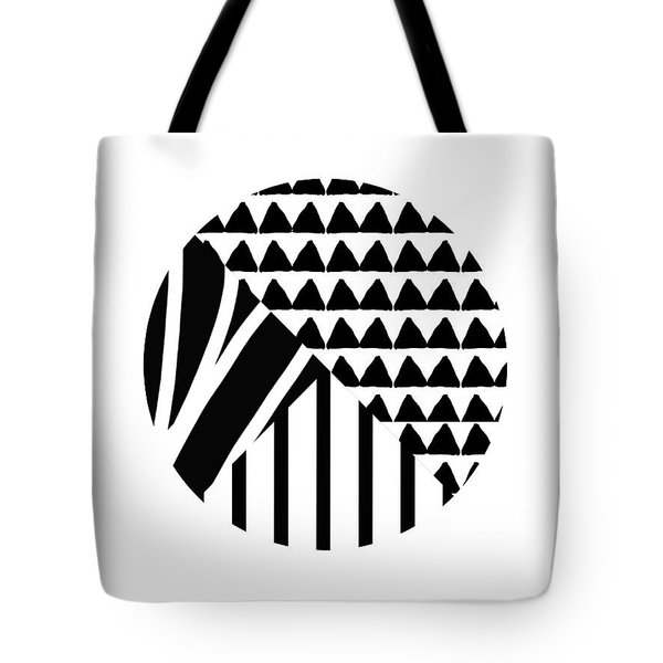 Black And White Patchwork Pattern Ball- Art By Linda Woods Tote Bag