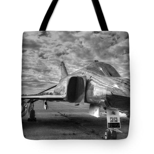 Black And White Phantom Tote Bag