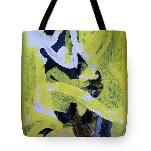 Black And White Plus Yellow Tote Bag