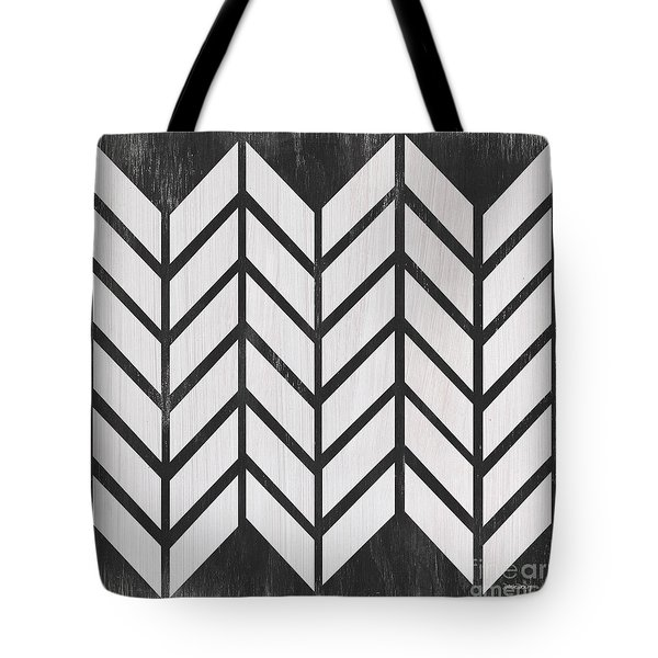 Tote Bag featuring the painting Black And White Quilt by Debbie DeWitt