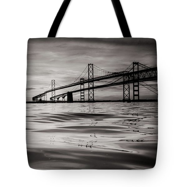 Tote Bag featuring the photograph Black And White Reflections 2 by Jennifer Casey