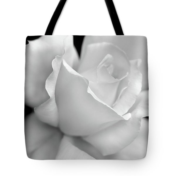 Tote Bag featuring the photograph Black And White Rose Flower by Jennie Marie Schell