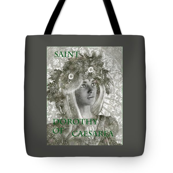 Black And White Saint Dorothy Tote Bag