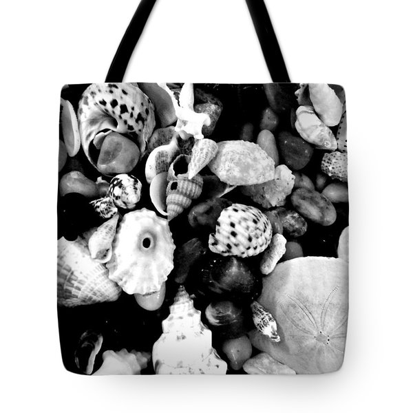 Black And White Seashells Tote Bag by Kimberly Perry