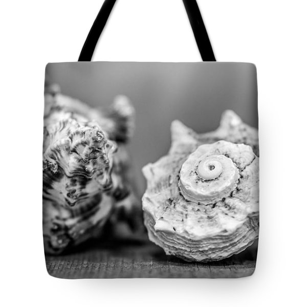 Black And White Shell Couple Tote Bag