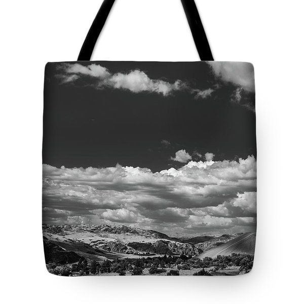 Tote Bag featuring the photograph Black And White Small Town  by Jingjits Photography