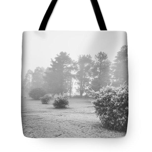 Black And White Snow Landscape Tote Bag