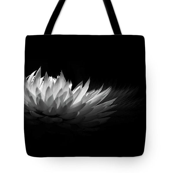 White Spikes Tote Bag by Elaine Manley