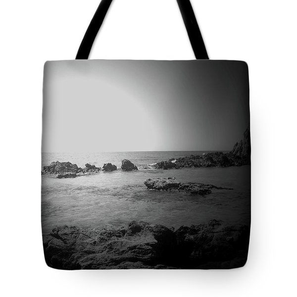 Black And White Sunset In Spain Tote Bag