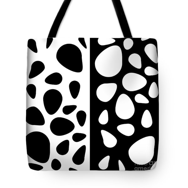 Black And White Teardrops Tote Bag