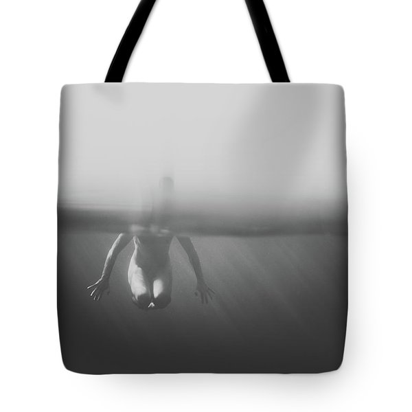 Black And White Underwater Tote Bag
