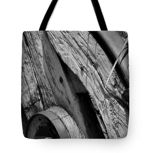 Black And White Wagon Wheel 1 Tote Bag