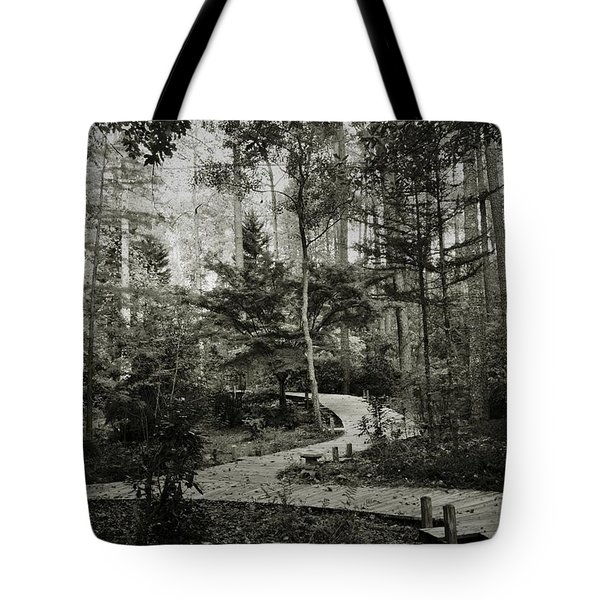 Black And White Vintage Edit -walk In Peace  Tote Bag