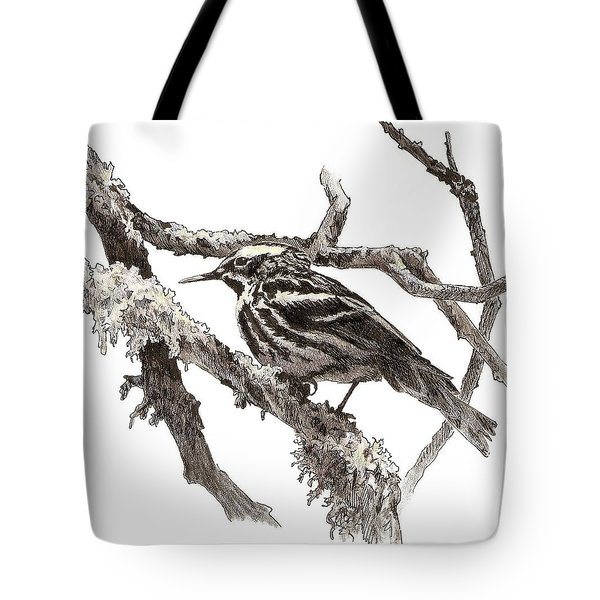 Black-and-white Warbler Tote Bag