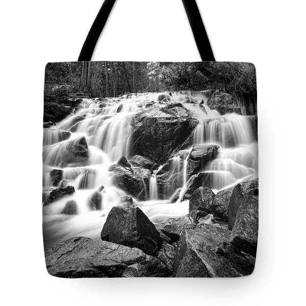 Black And White Waterfall In Lee Vining Canyon Tote Bag