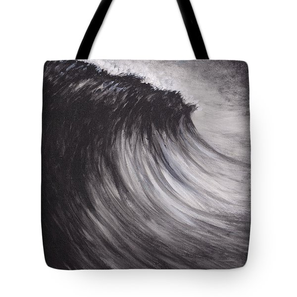 Black And White Wave Guam Tote Bag
