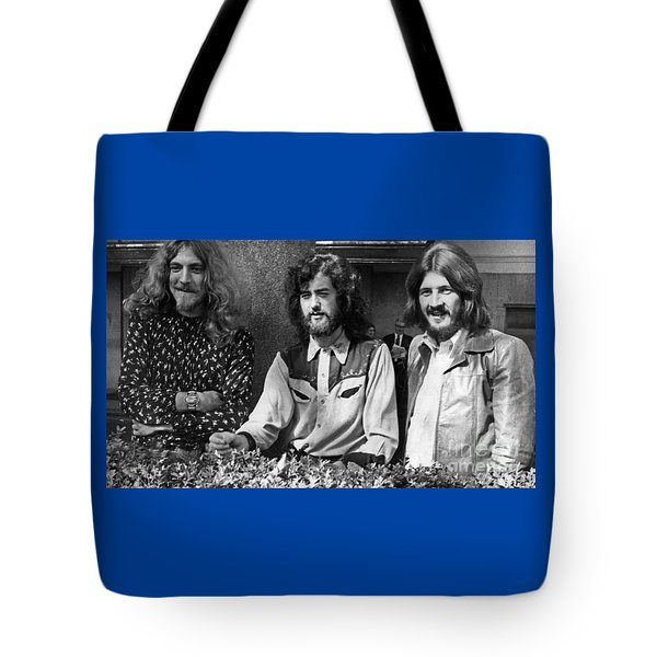 Black And White Zeppelin Tote Bag