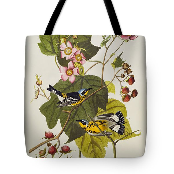 Black And Yellow Warbler Tote Bag by John James Audubon