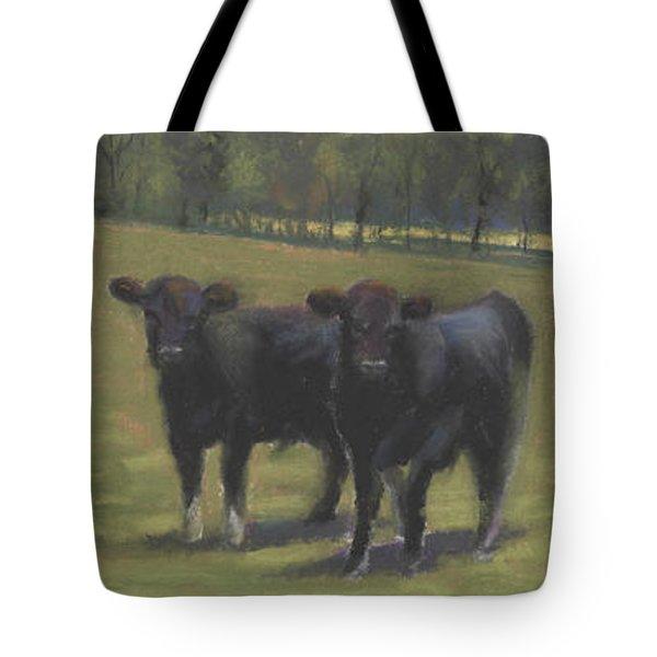 Black Angus Buddies Tote Bag by Terri  Meyer
