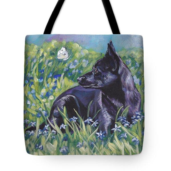 Black Australian Kelpie Tote Bag by Lee Ann Shepard