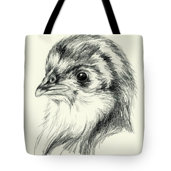 Black Australorp Chick In Charcoal Tote Bag