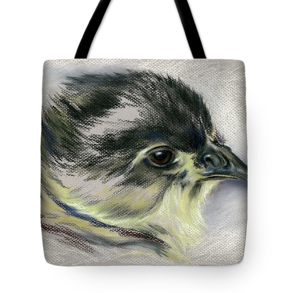 Black Australorp Chick Portrait Tote Bag