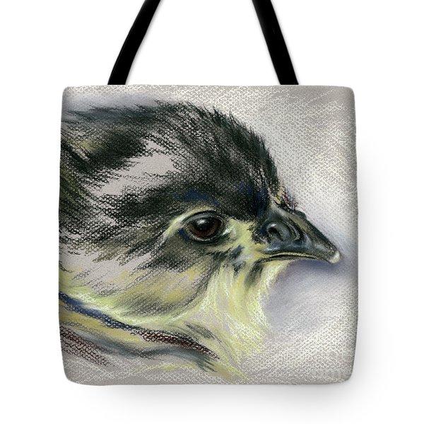 Black Australorp Chick Portrait Tote Bag