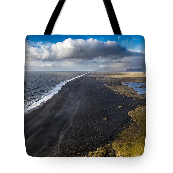Tote Bag featuring the photograph Black Beach by James Billings