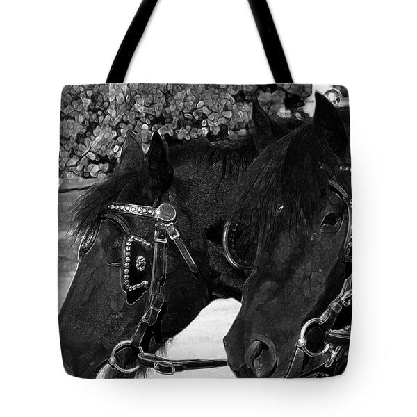 Tote Bag featuring the photograph Black Beauties by Stuart Turnbull