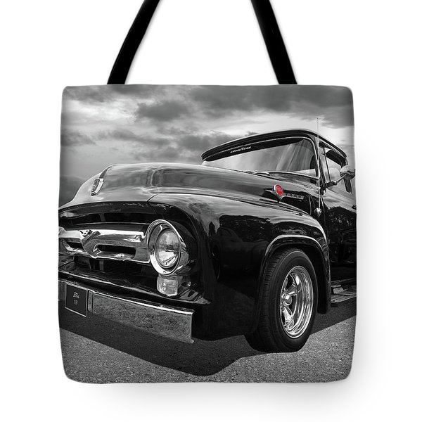 Black Beauty - 1956 Ford F100 Tote Bag
