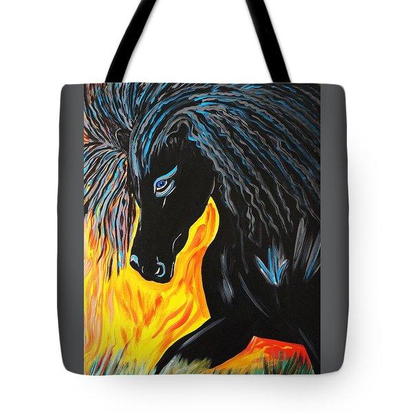Black Beauty Tote Bag by Nora Shepley