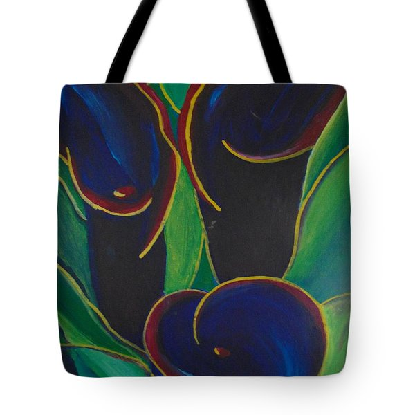 Tote Bag featuring the painting Black Beauty by Saundra Johnson