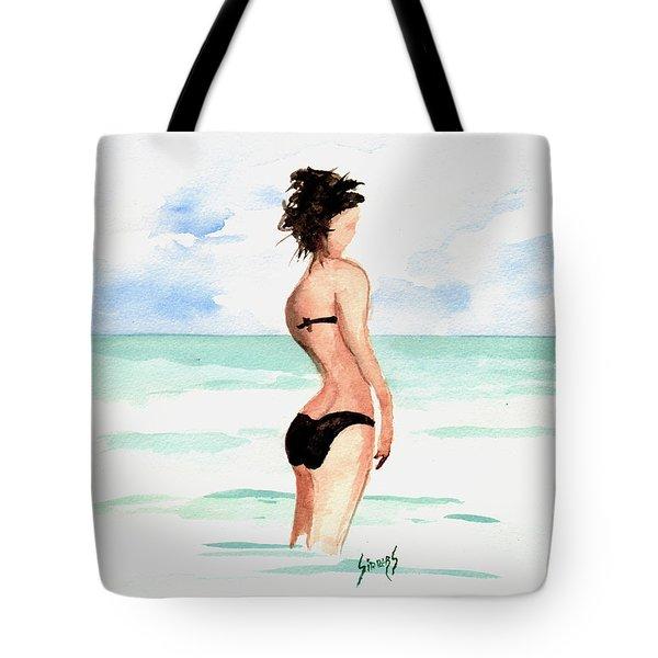Black Bikini Tote Bag