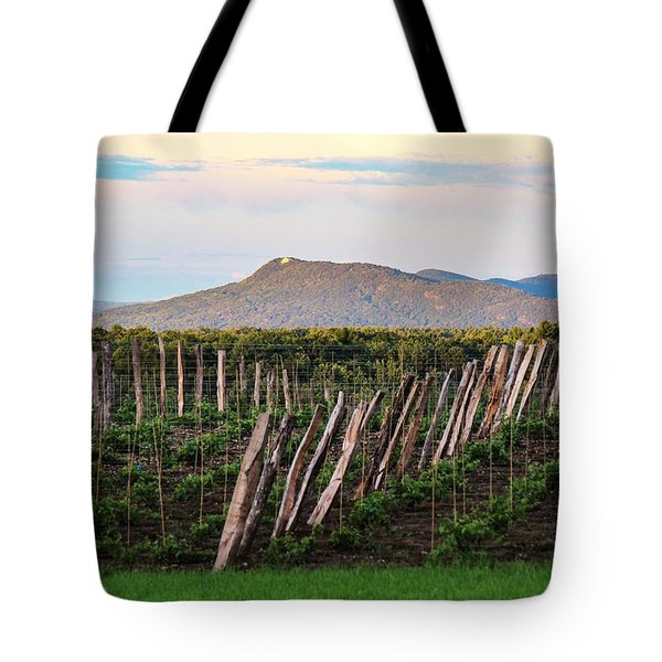 Black Birch Vineyard And Summit House View Tote Bag
