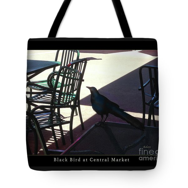 Black Bird At Central Market Greeting Card Poster Tote Bag