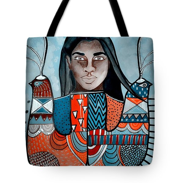 Tote Bag featuring the painting Black Bird Black Bird by Amy Sorrell