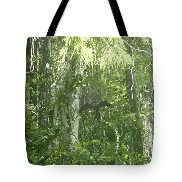 Black Birds And Cyprus Tote Bag