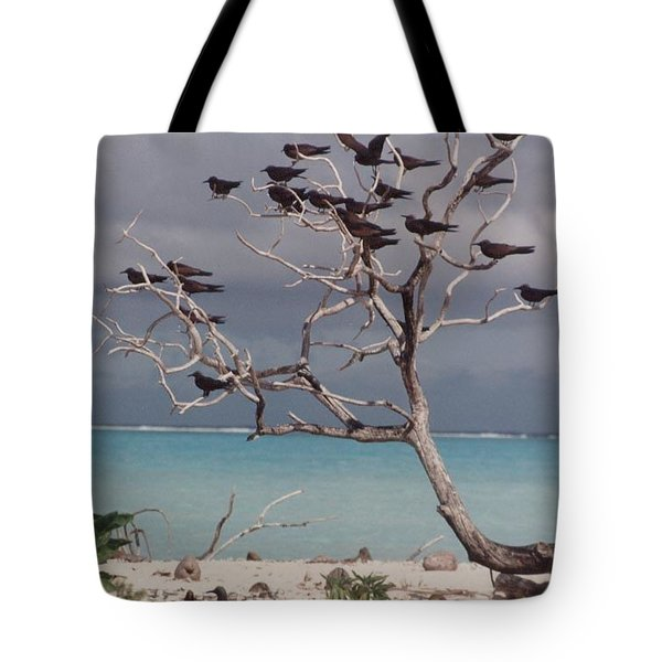 Tote Bag featuring the photograph Black Birds by Mary-Lee Sanders