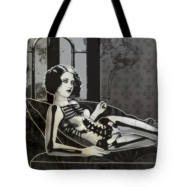 Black Blanche Tote Bag